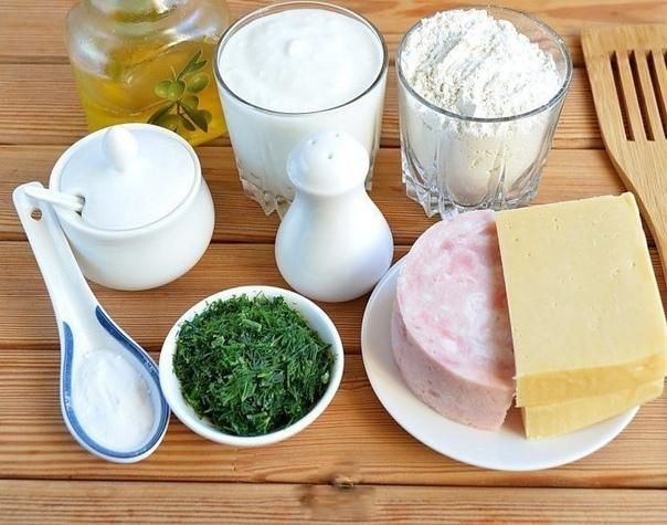 Лепешки с сыром ветчиной