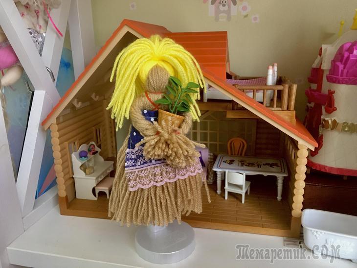 Кукла из ниток за 5 минут куклы,мастер-класс