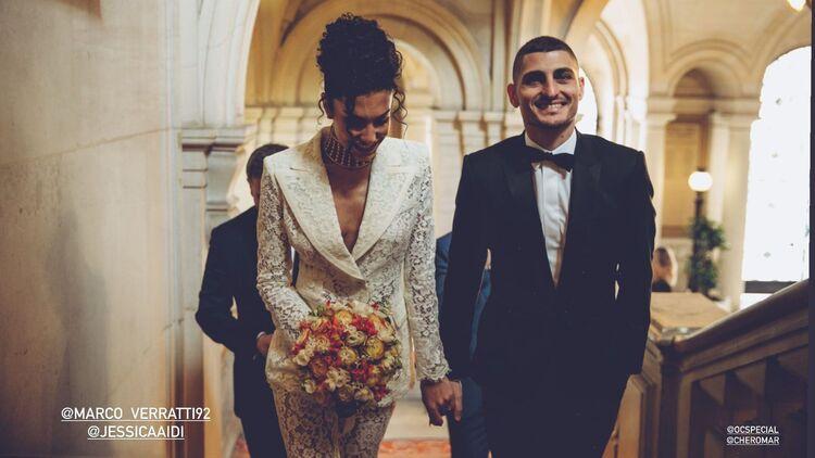 Футболист Марко Верратти женился через четыре дня после победы его сборной на Евро-2020 Свадьбы,Звездные свадьбы