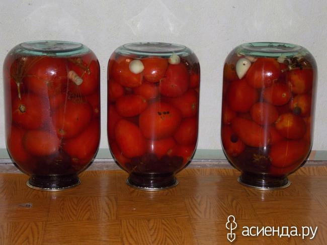 Помидоры с виноградом (Без уксуса!)