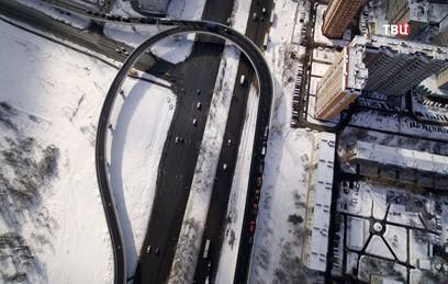 Собянин открыл в движение по новой эстакаде через Варшавку в Щербинке