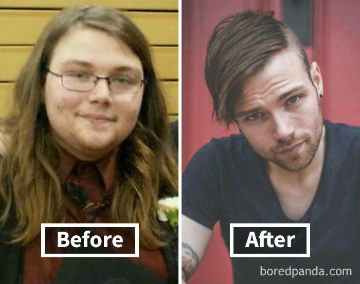 """Вот как меняется лицо после похудения: 25 снимков """"до и после"""""""