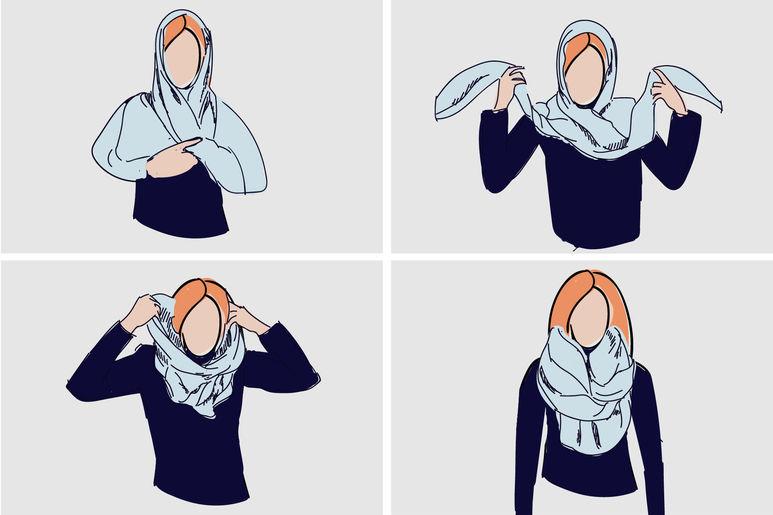 завязать шейный платок пошагово фото
