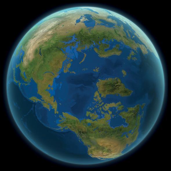 Вот как будет выглядеть наша планета, если все ледники на Земле растают