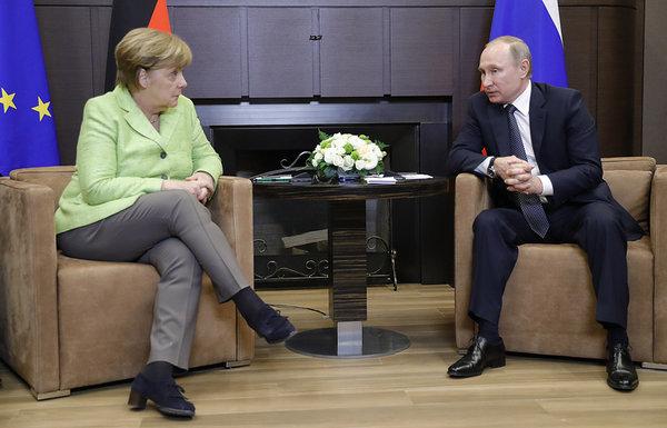 Путин едет к Меркель для обс…