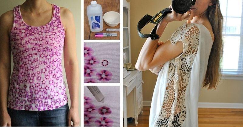 20 удачных идей обновить блузу или футболку за копейки