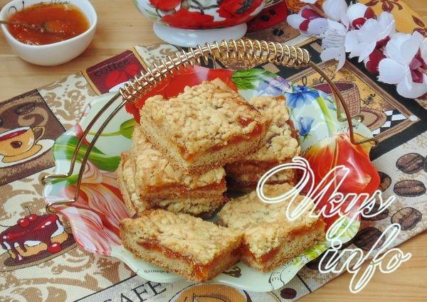 рецепт Тертый пирог с абрикосовым вареньем