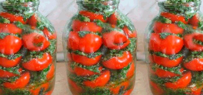 Вкусные помидоры по-корейски быстро