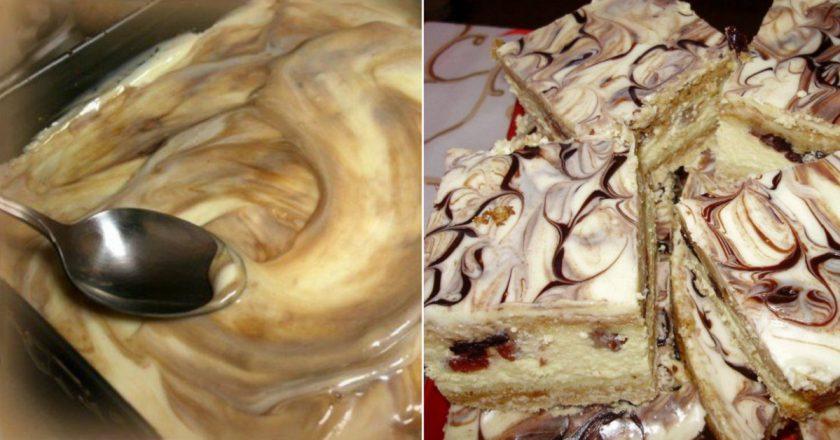 """Очень вкусное пирожное """"Королевский мрамор"""""""