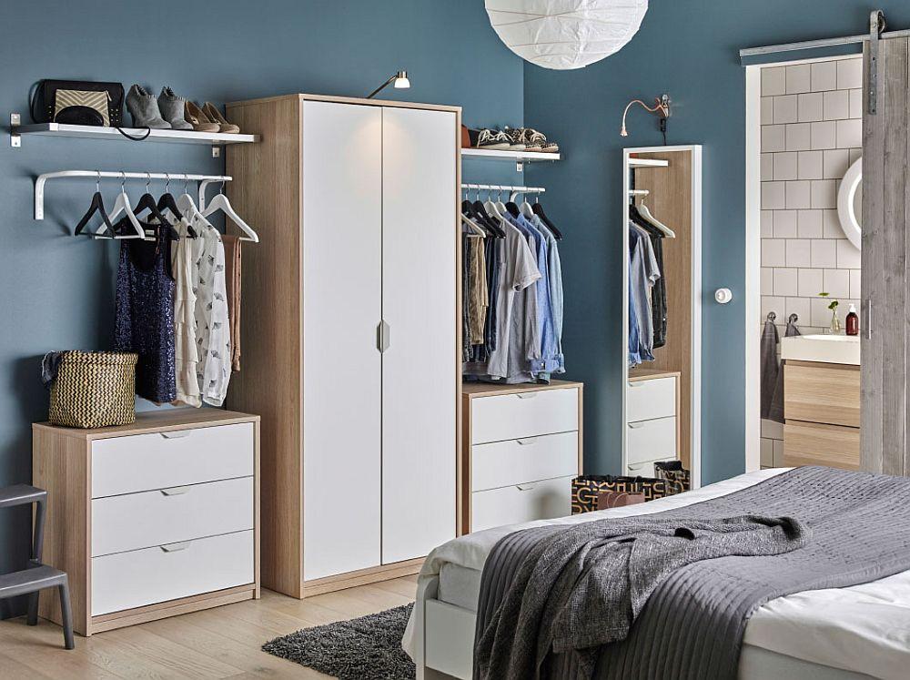 Дизайнерский интерьер спальни с деревянной мебелью