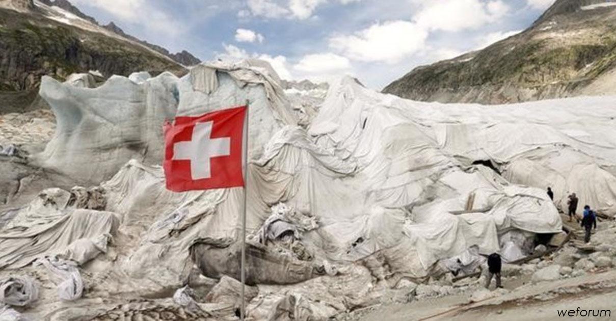 В Швейцарии льды накрывают огромными одеялами. И вот зачем...