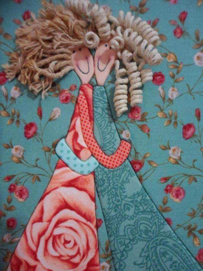 Картины из лоскутов ткани своими руками картины из ткани