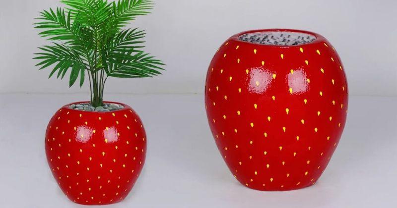 Чудо-декор за копейки: потрясающий, яркий, дизайнерский цветочный горшок
