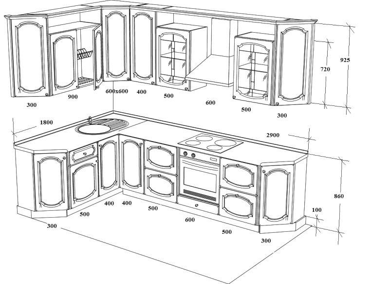 Кухонный уголок своими руками чертежи и схемы фото 250