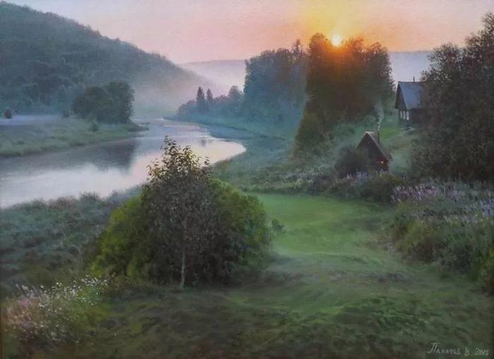 Художник Вячеслав Плотников. Великолепные ресские пейзажи живопись