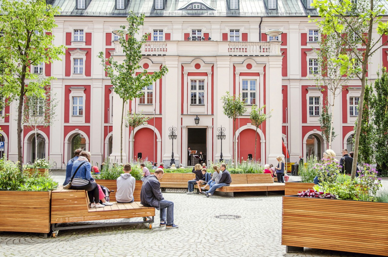 Дворик здания муниципалитета в Польше