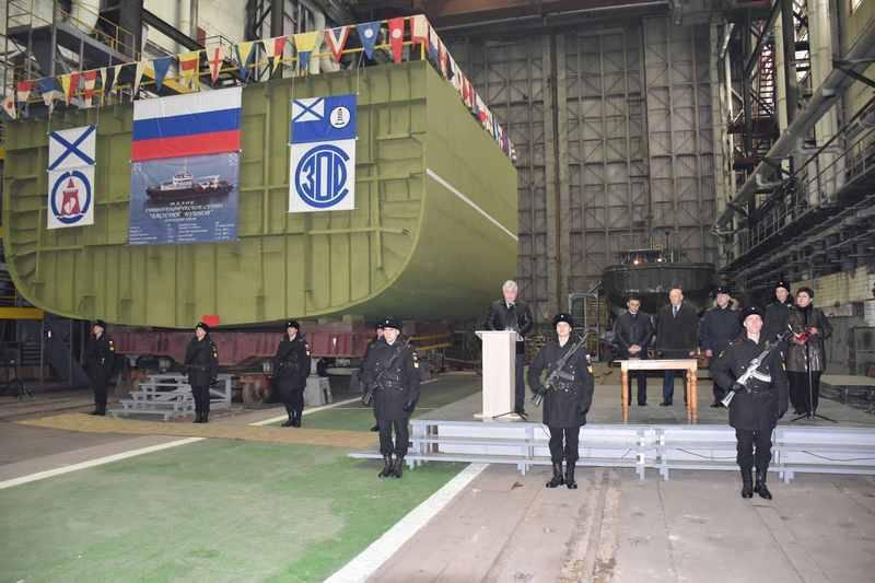 В Благовещенске заложено гидрографическое судно проекта 19910 для ТОФ