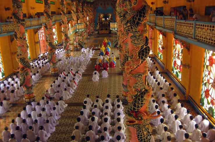 Служба в буддийском храме