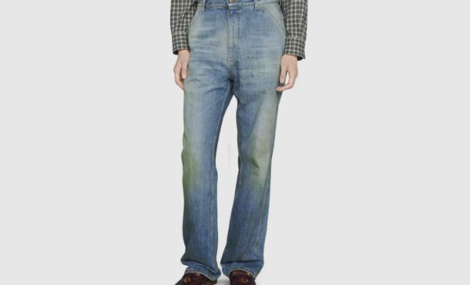 Gucci выпустили грязные «джинсы дачника» и стали продавать их по 60 тысяч рублей Культура