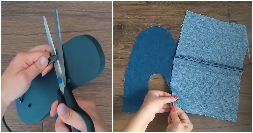 Тандем старых джинсов и обуви: неожиданно нужная вещица