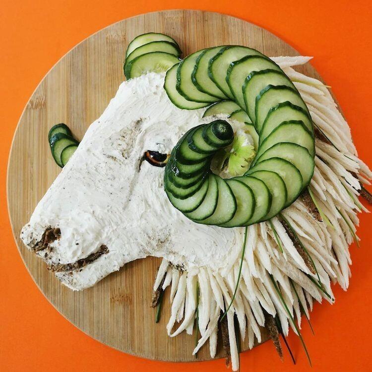 Креативная мама превратила еду в искусство вдохновляемся,еда,творчество