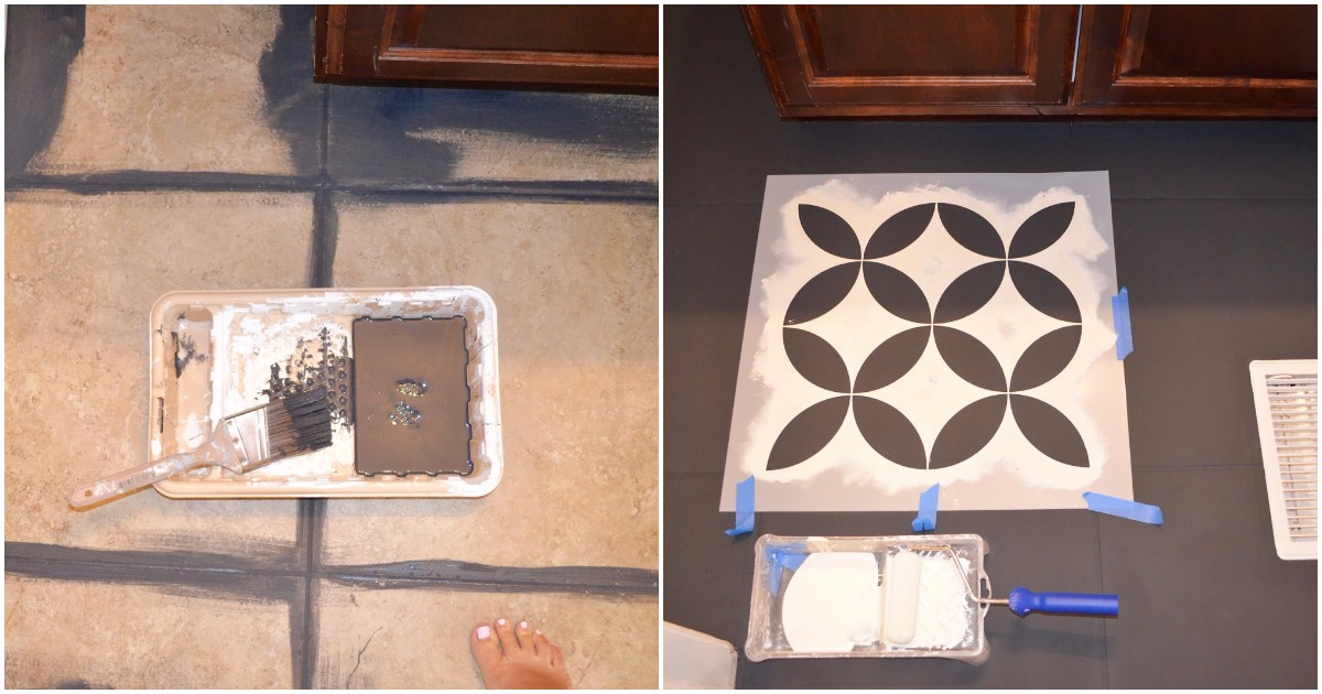 Девушка решила покрасить плитку в ванной, и вот что у неё получилось