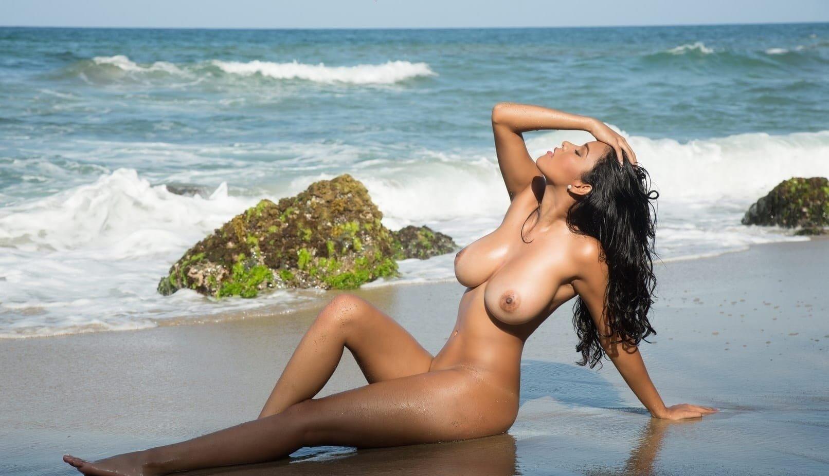 Topless women on the beach