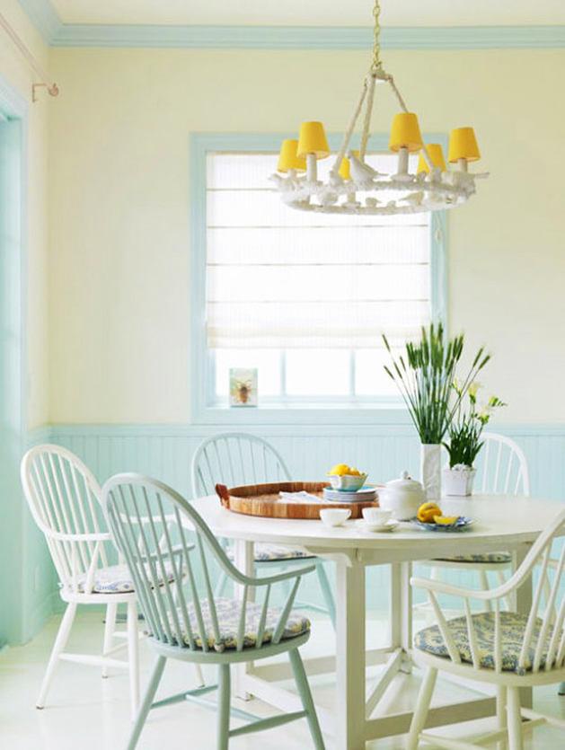 Кухня в цветах: голубой, бежевый. Кухня в стилях: минимализм.