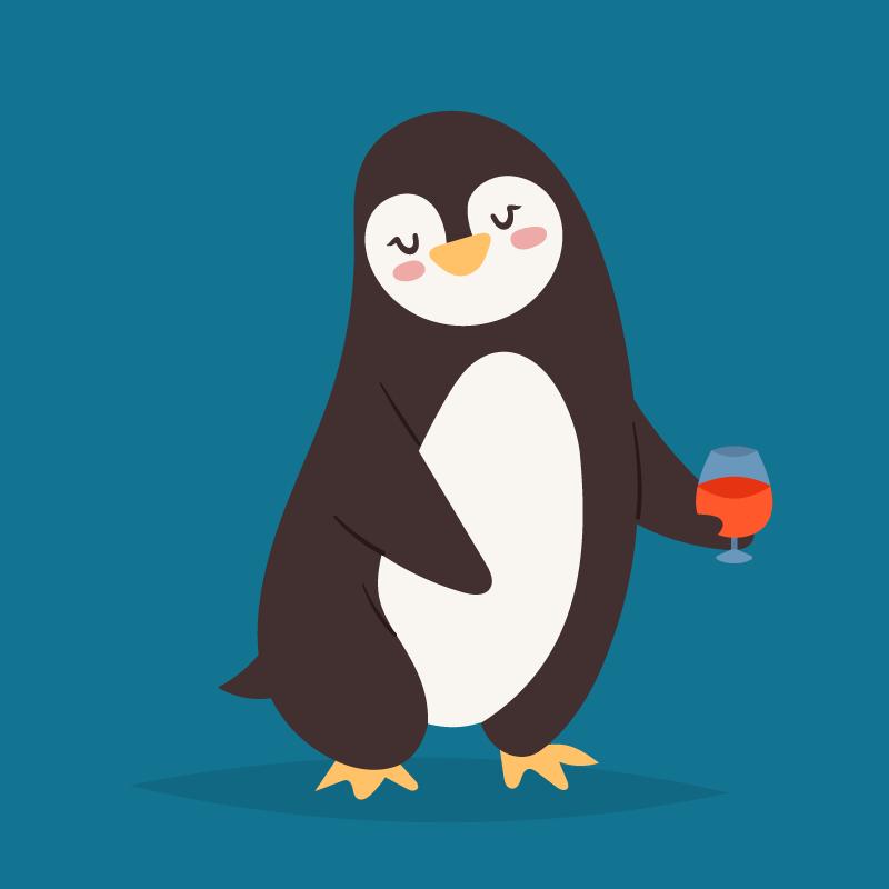 Рисунки смешных пингвинов