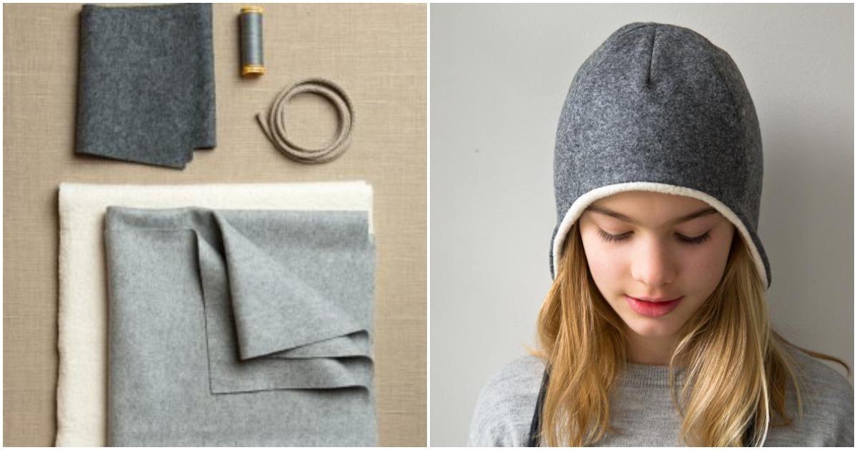 Теплая шапочка с ушками — стильная идея для воплощения
