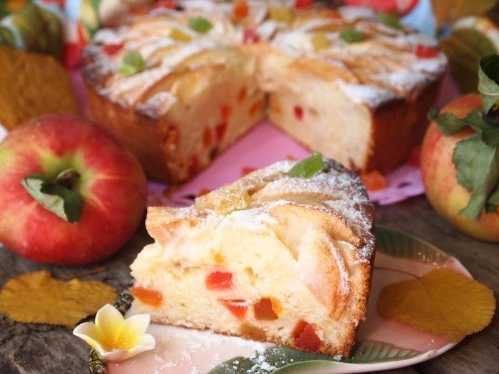 """Творожно-яблочный пирог """"Краски осени"""""""
