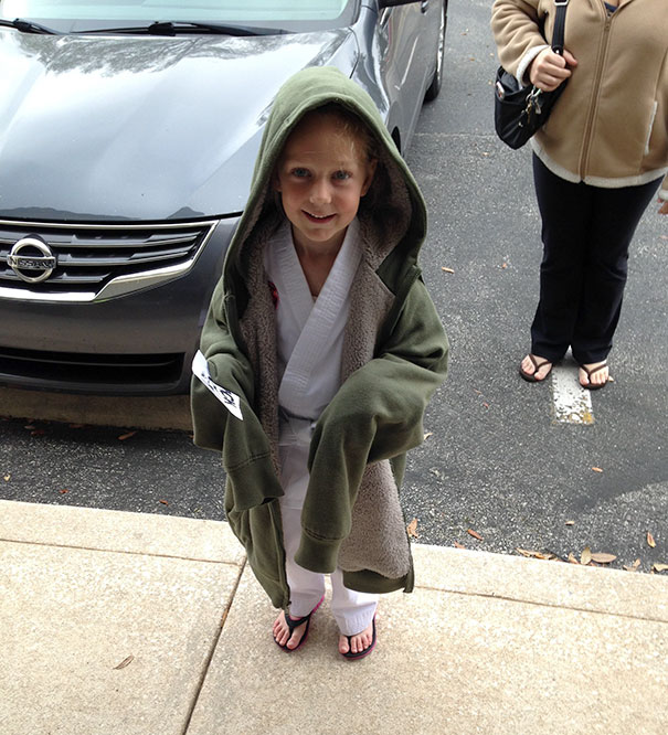 Daughter Was Cold After Karate Class = Accidental Jedi