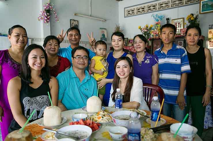 Семьи у вьетнамцев очень крепкие