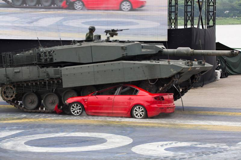 Тайные закупки Сингапура: танки Leopard 2A7