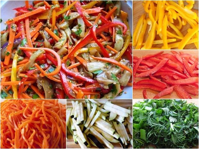 Салат из перца, баклажанов и моркови по-корейски рецепты