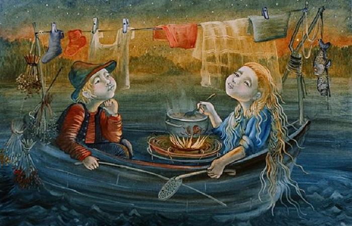 Художница из Петербурга рисует наивные сказки, от которых на душе становится теплее