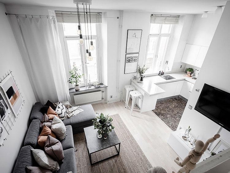 Белая малышка: квартира-студия на 32 кв. м