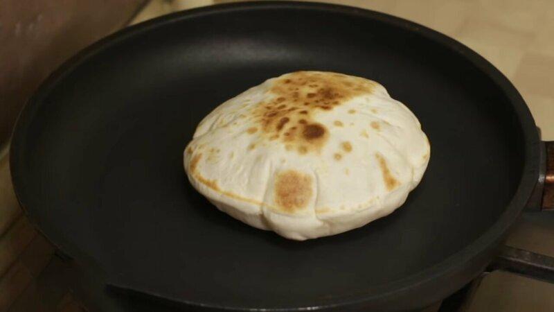 Пита – арабская лепешка без дрожжей IrinaCooking, видео рецепт, еда, кулинария, лепешка, лепешки, лепешки на сковороде, рецепт