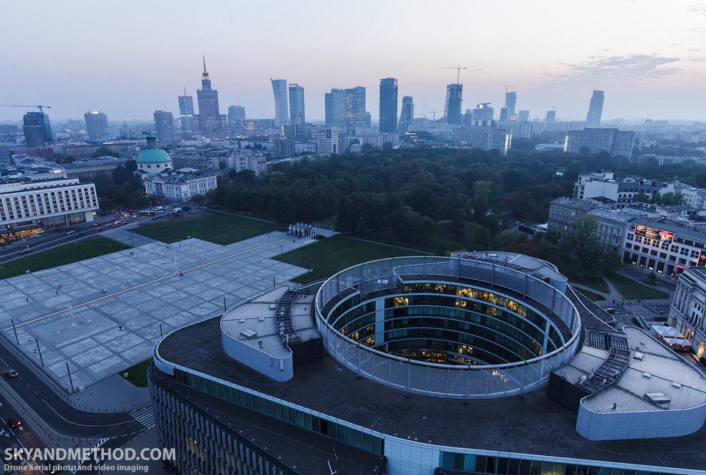 Варшава с высоты птичьего полета
