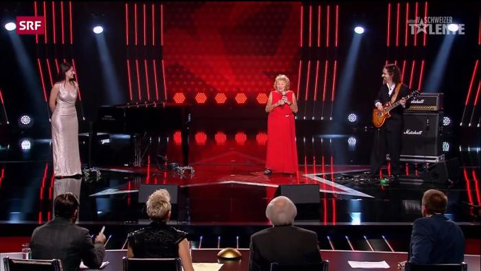 Выступление Инге на швейцарском шоу талантов. /Кадр из телепрограммы.