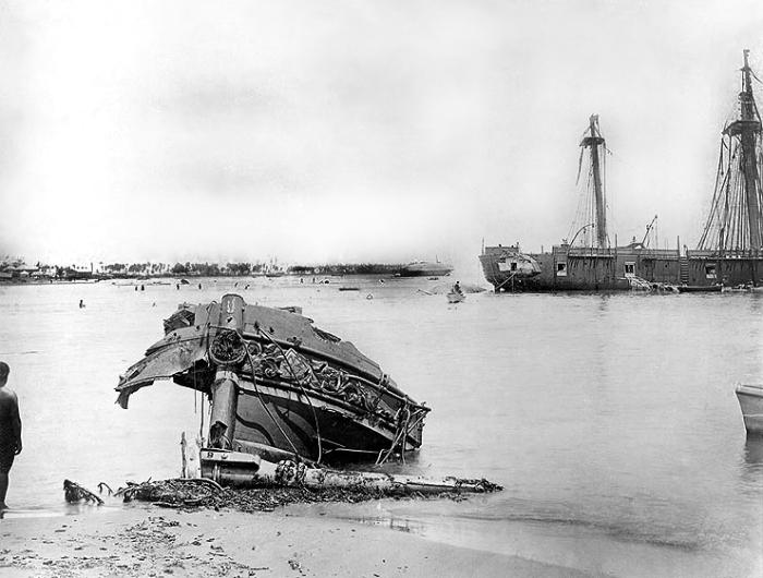 Последствия победы тайфуна над человеческим разумом./Фото: upload.wikimedia.org