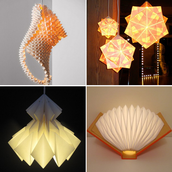 Дизайнерские светильники-оригами: практичные арт-объекты — 30 оригинальных моделей