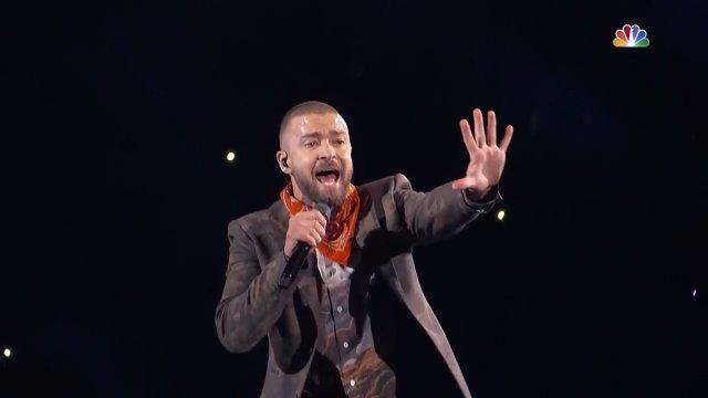 Justin Timberlake на Super Bowl Halftime Show 2018