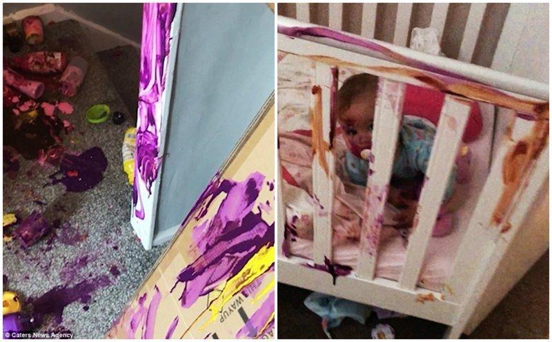 Многодетная мама показала, что натворили ее дети с домом за 10 минут