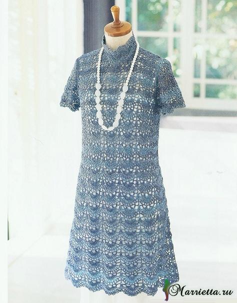 Нарядное летнее платье крючком (1) (474x605, 246Kb)