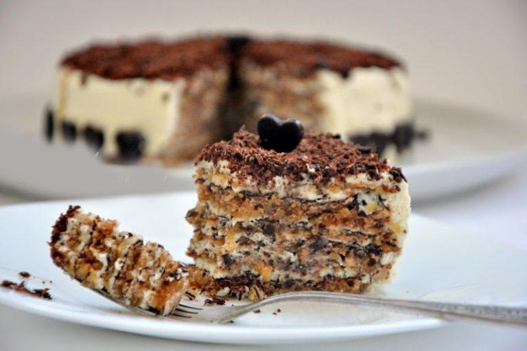Ореховый торт почти без муки. Рецепт привезен из Италии