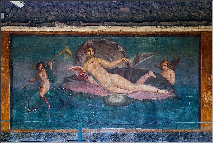 Копия предположительно с фрески Апеллеса, 1 в до н.э, автор не известен, Помпеи