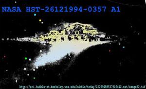 Плывущий город фото с телескопа «Хаббл»