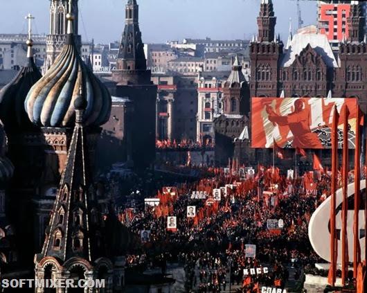 Праздничная Москва 7 ноября 1967 года