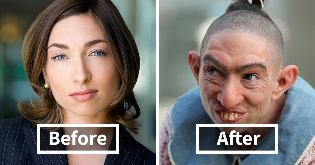 30+ Incredible Pics Of Actors Before And After Applying Movie Makeup That Will Make You Look Twice